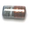 Glass Beads 17x9mm Tube 2Tone Grey/Bronze